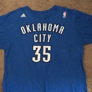 Kevin Durant OKC shirt.